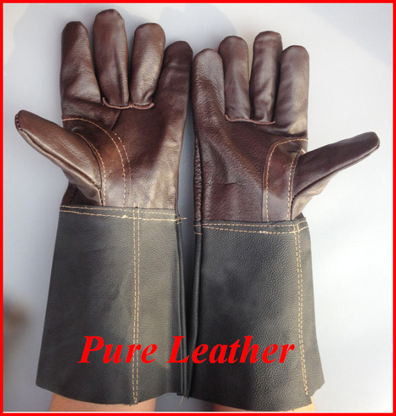 best selling Safety Welding Leather Gloves Working Protection Brown Color Size XL Protect worker hands big size Construction site out343