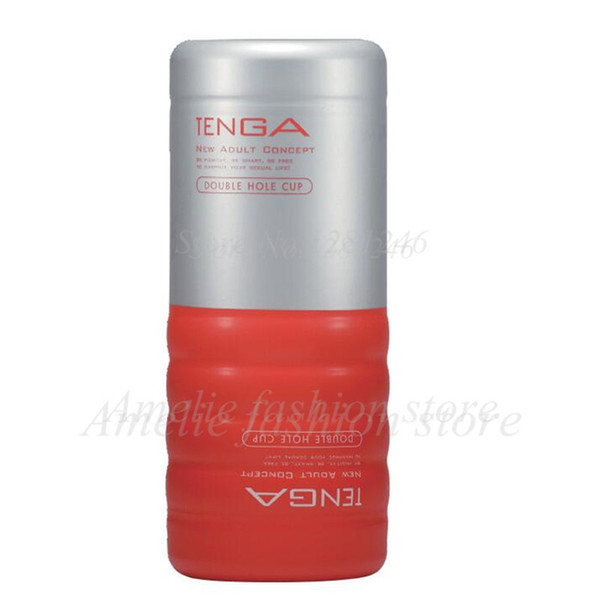 TENGA TOC-104 Double Holes Style Male Masturbators Cup,Simulated Vagina Realistic Pussy Vagina Anus Adult Sex Toys For Men S1018