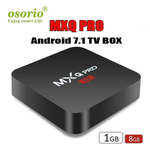 MXQ Pro 4K Android 7.1 TV Box Rockchip RK3229 Quad Core 4K HD 64bit Smart Mini PC 1G 8G Wifi 4K H.265 Streaming Google Media Player