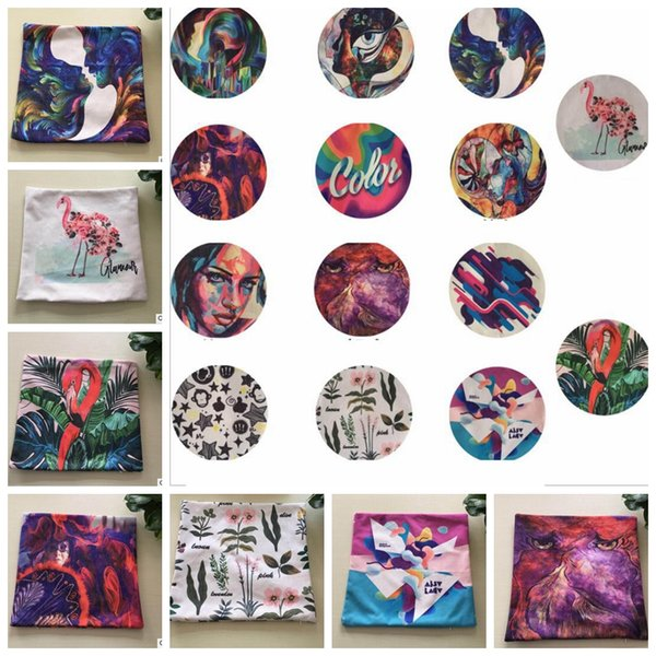 Flamingo Sofa Cushion Covers 45x45CM abstract art painting pillow case Home Office Decoration Cushion Cover 14 design KKA5719