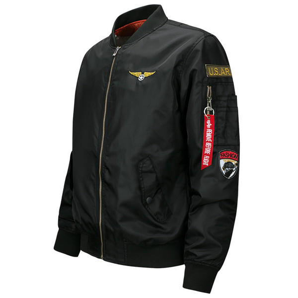 New Mens Fly Pilot Biker Army Doorman Harrington Bomber Jacket Military Security