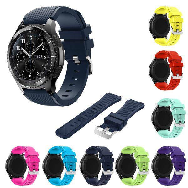 Joyozy 22mm Correa de reloj deportivo de silicona para Samsung Galaxy S3 Reloj clásico SM-R770 S3 Frontier SM-R760 SM-R765 Samsung Smart Watch