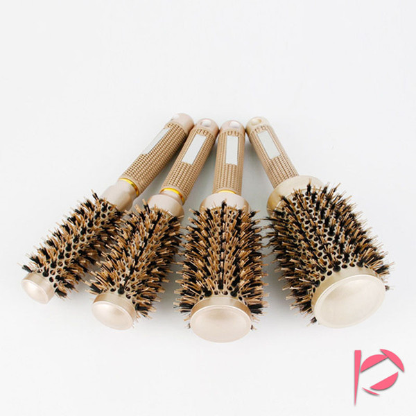 4pcs/lot Iclouds Professional Hair Dressing Brushes Ceramic Straightening Hair Iron Round Comb 4 Size Hair Styling Tool Hairbrush