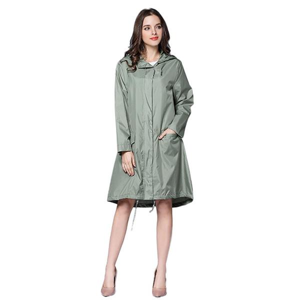 top popular Long Raincoat Women Waterproof Windproof Hood Ladies Thin Rain Coat Ponchos Jackets Female Chubasqueros Mujer Capa De Chuva 2019