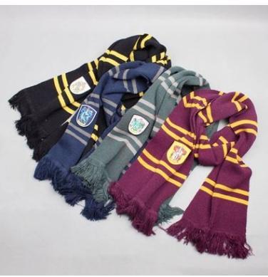 Winter Schals Fashion College Warme Schal Harry Potter Gryffindor Serie Schal Mit Abzeichen Halloween Cosplay Kostüme Herbst Winter Schals
