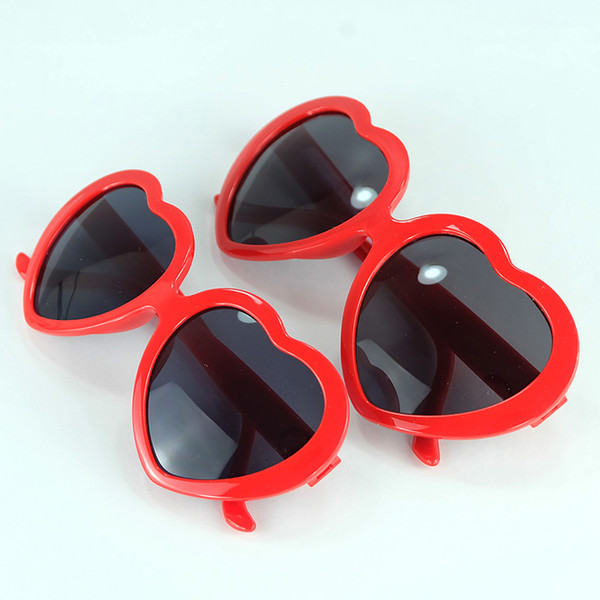 Fashion Love Heart Sunglasses For Women And Kids Two Size Cheap Party Glasses Frame UV400 Cheap Sun Glasses