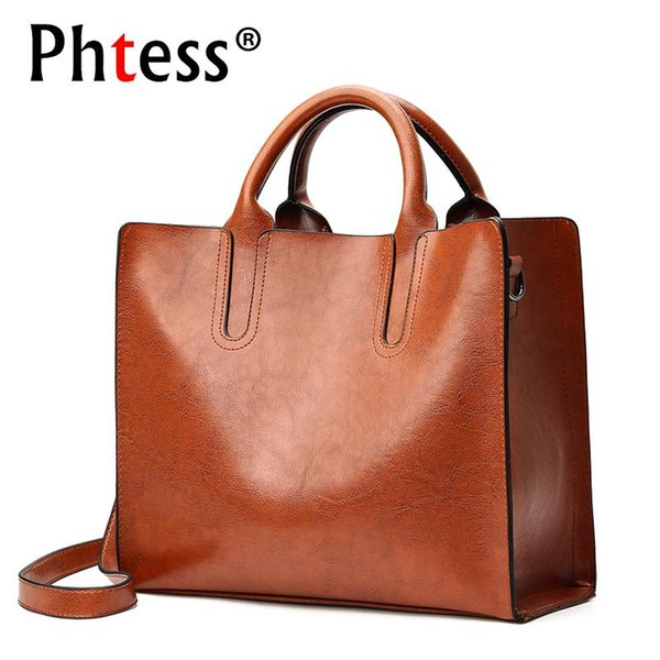 2018 Female Large Capacity Tote Bags Brown Luxury Leather Handbags Women Bags Designer Sac a Main Ladies Vintage Bolsa Hand Bag