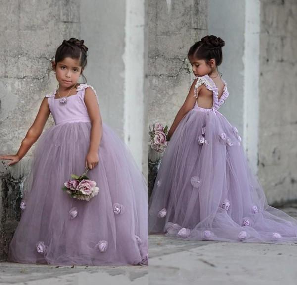 Großhandel Purpurrote Reizende Blumen Mädchen Kleidet Quadratischen ...