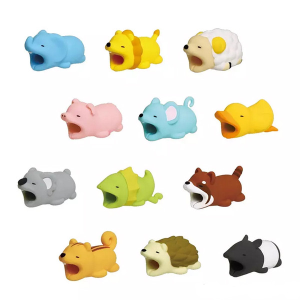 Cable Bite Protector for iPhone Cable Organizer Winder Phone Holder Accessory Rabbit Dog Cat Cute Design with package DHL free shipping