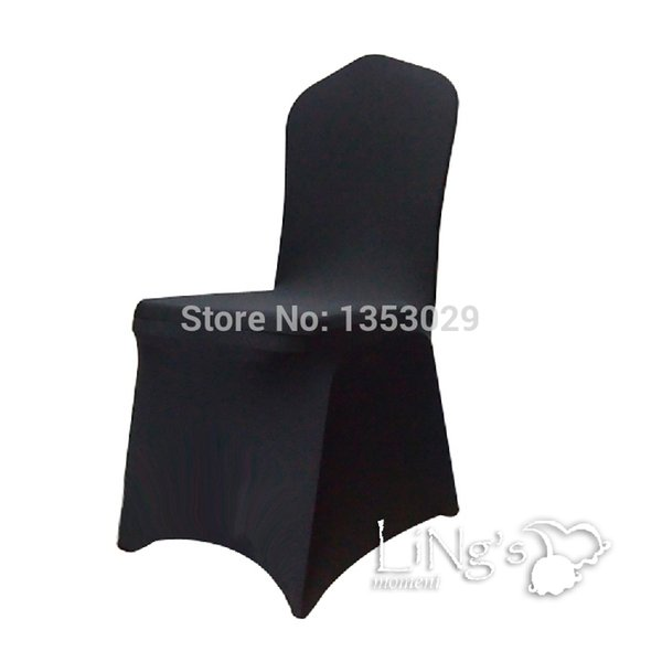 Wholesale-Free Shipping High-End Black Color Spandex Chair Cover Wedding Party Hotel Banquet Lycra Spandex Chair Covers for Decorations