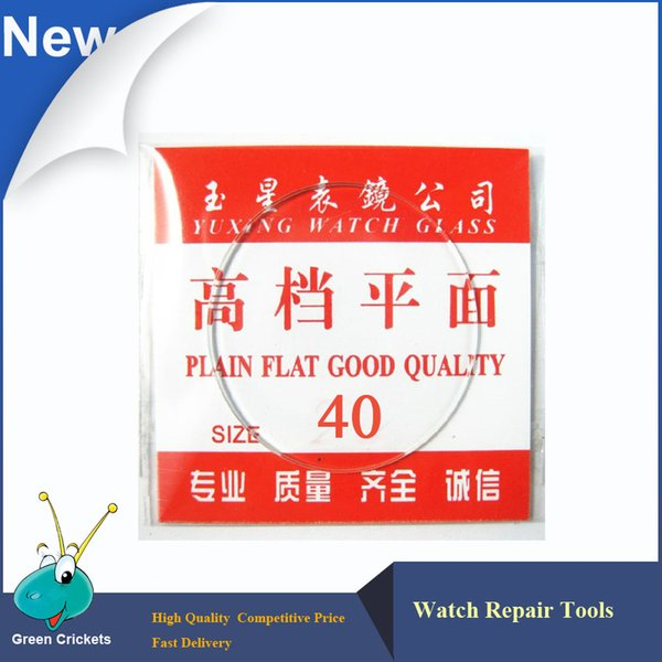 Großhandel 2 teile / satz 40mm / 40,5mm Sortieren Größe Plain Flat Uhren Gläser für ersatz, uhr glas teil für uhrmacher
