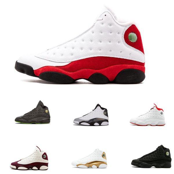Nueva calidad superior 13 13s hombres mujeres zapatos de baloncesto Bred negro marrón azul blanco holograma pedernal gris rojo zapatillas deportivas tamaño 8-13