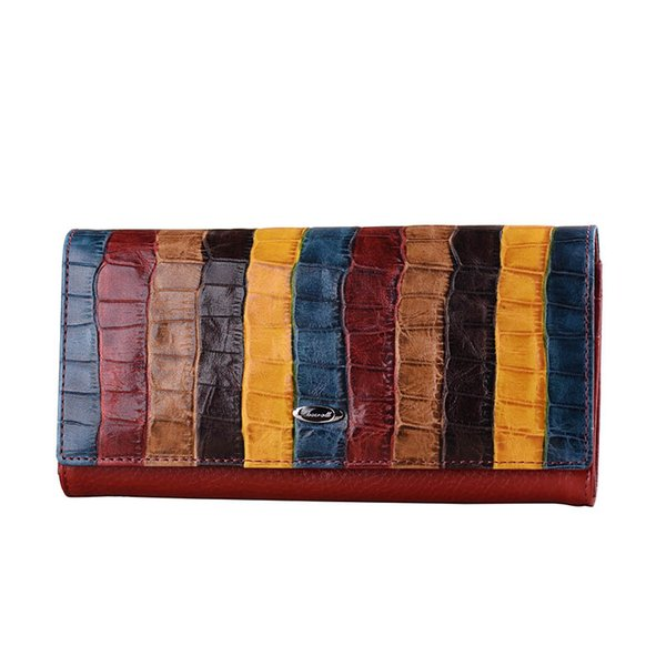 2018 New Ladies Wallet Fashion Designer Brand Famous Women Clutch Bag Long Leather Retro Woman Wallets And Purse Card Holder