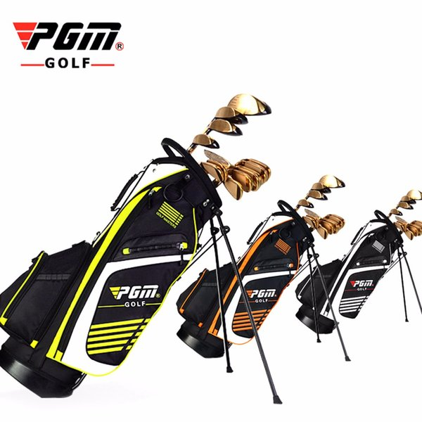 top popular PGM Golf Bag with Stand Portable Stand Bag 14 Sockets Multi Pockets Golf Standard with Shouder Strap 90*28CM 3 Colors 2019