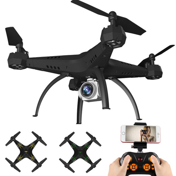 Flytec KY501W optical positioning drone with 720P wifi FPV camera high hold VR function foldable drone quadcopter Rc helicopter