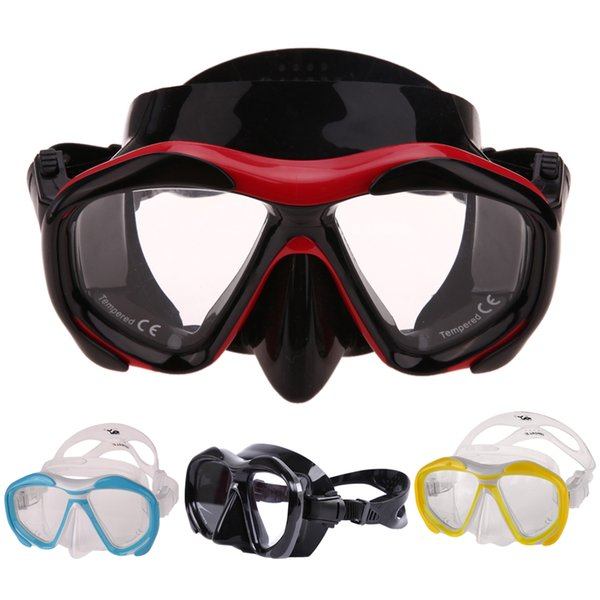 Dive Mask,Whale Seal Silicone Skirt Strap Snorkel Scuba Diving Mask with Tough Tempered Glass Lens Diving Equipment