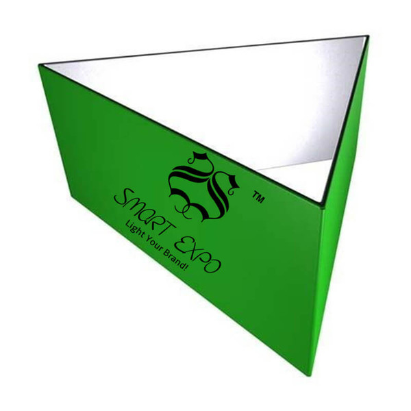 20ft(L)* 3.5ft(H) Triangular Fabric Tension Hanging Banner with Strong Aluminum Frame Tension Fabric Print Graphic Portable Bag