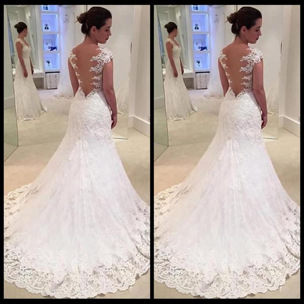Großhandel Hochzeitskleid 2018 Sexy Günstige Lange Meerjungfrau ...