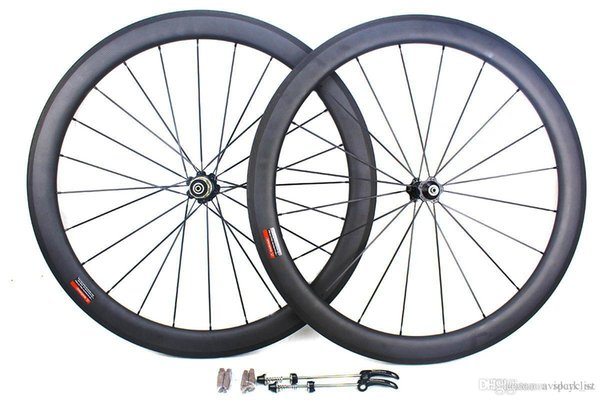 carbon bicycle wheels 50mm 700C basalt brake surface clincher tubular road cycling bike wheelset novatec Hub width 25mm 3k matt