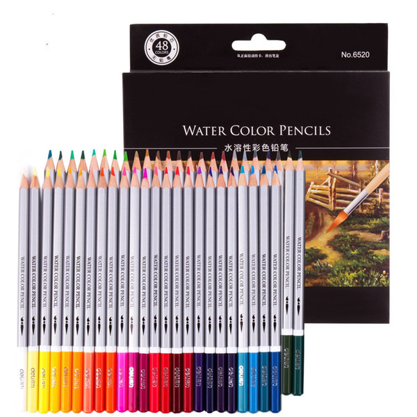 24/36/48 Color Colored Pencils Watercolor Pencils Lead Water-soluble Color Pen
