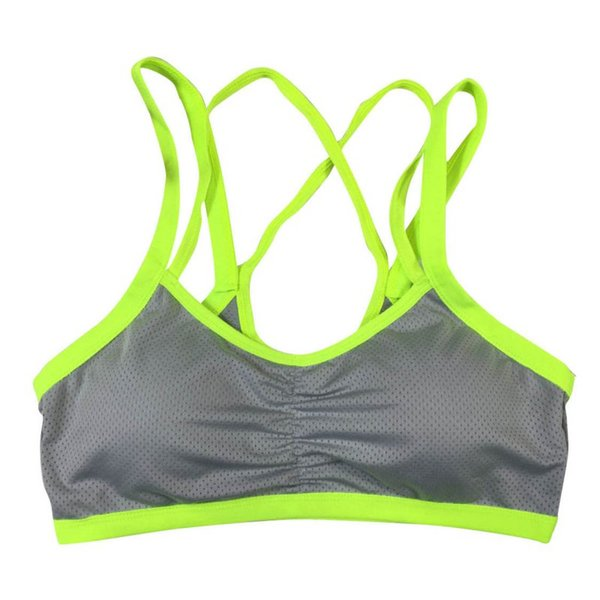 Sexy Women Breathable Sports Bra Running Gym Fitness Double Shoulder Belt Push Up Seamless Padded Wirefree Shakeproof Vest Tops