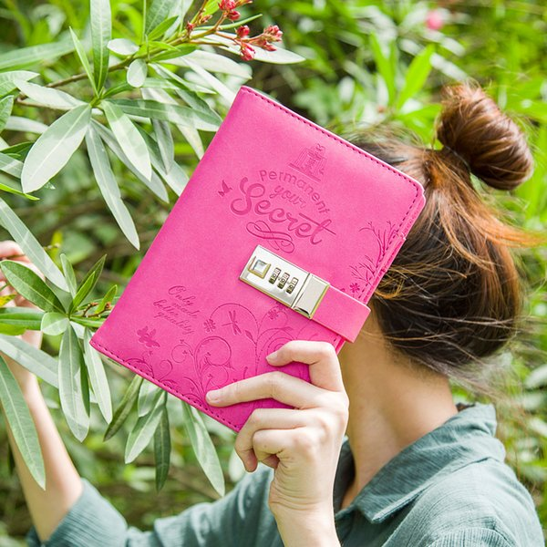 MaoTu Vintage Permanent Your Secret Paper NotNotepad with Lock Kawaii Diary Book Cute Journal Sketchbook