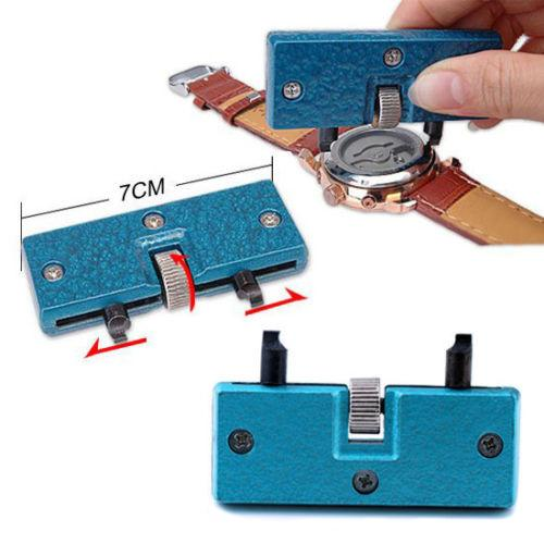 Adjustable Watch Back Case Cover Opener Remover Screw Wrench Repair Kit Tool