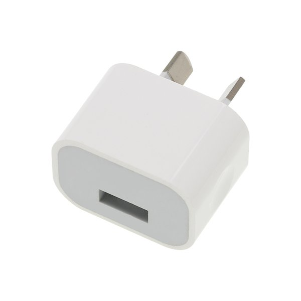 Single USB Port Insulated AU Plug Charger Output DC 5V 1A Power Adapter Used for IPhone IPad Samsung & Mobile Phones Tablets