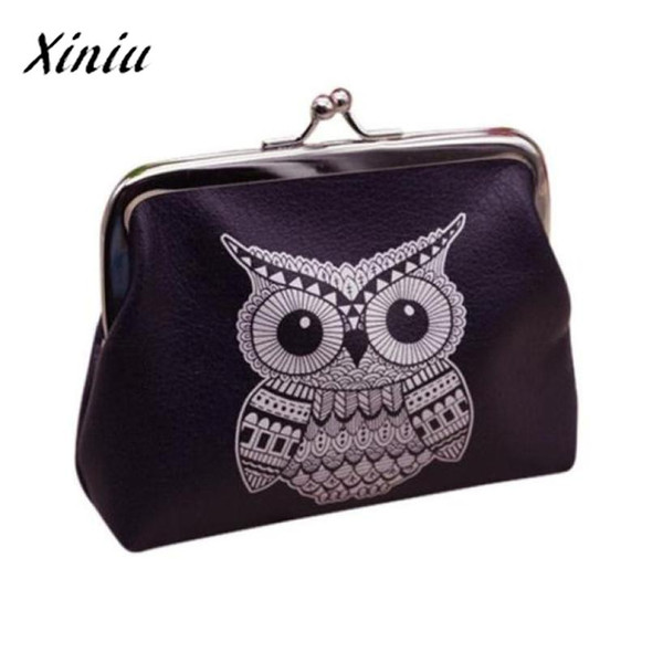 Womens Coin Purse Owl Printing Leather Mini Wallet Vintage Hasp Cheaper Clutch Wallet Wholesale portamonete donna #7111
