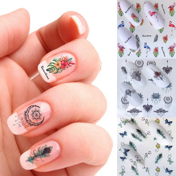 5 Sheets Summer New Nail Art Stickers Fruit/Cartoon Water Transfer Wraps Foils Patch Decorations Tools