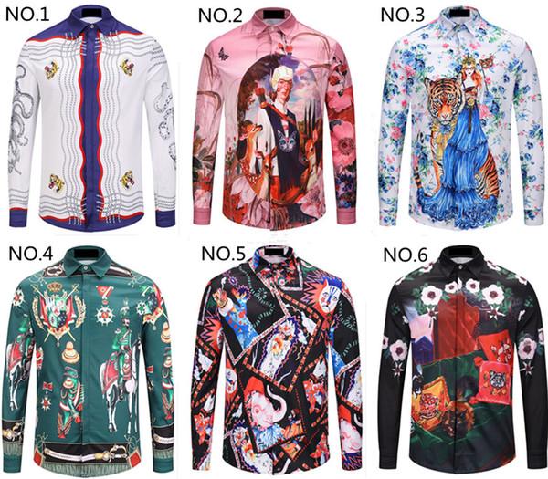 man polos amous men brand luxury men's polo t shirts designer long sleeve t shirt tag M-XXL