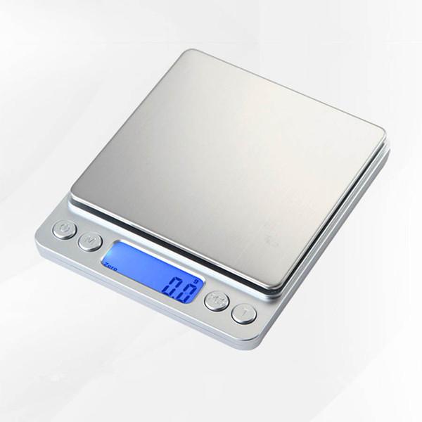 3000g / 0.1g 500 / 0.01g LCD Portátil Mini Balanças Eletrônicas Digitais Bolso Caso Postal Jóias Cozinha Balança de Peso Balança Digital I2000