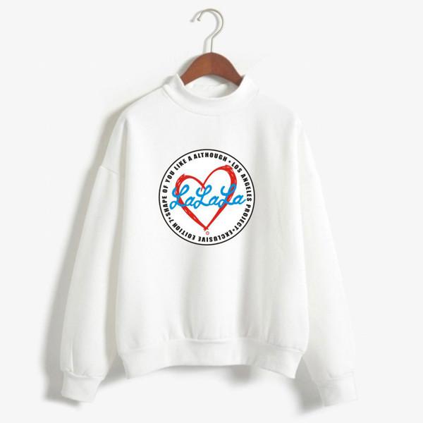 WANNA ONE Kang Daniel Women's Turtleneck Hoodies Women/Men's Print Red Heart LALALA Harajuku Sweatshirt Cotton Coats Black White