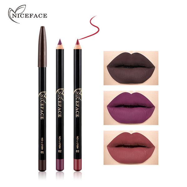 2018 12 Farben / Set Wasserdichte Lip Liner Bleistift Marke Neue Professionelle Langlebige Feuchtigkeitsspendende Lipliner Lippen Makeup Tools