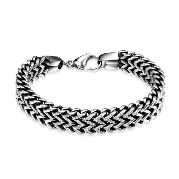 2018 Stainless Steel Silicone Black Bracelet Men WristBand Punk Style New Design Men Bracelet Simple Rubber Charm Pulsera Hombre