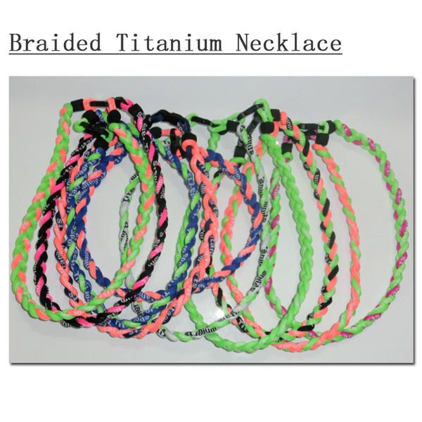 Titanium Baseball Fußball Sport Halskette geflochtenes Seil