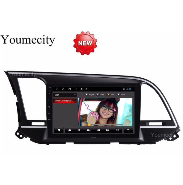 Octa Core Android 8.1 Car dvd gps player for HYUNDAI ELANTRA 2016 2017 2018 car radio video Stereo Audio navigation