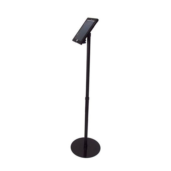 iPad Floor Stand iPad Holder Portable Store iPad Stand Reception or Menu Board with Aluminum Pole and Steel Base E06P17