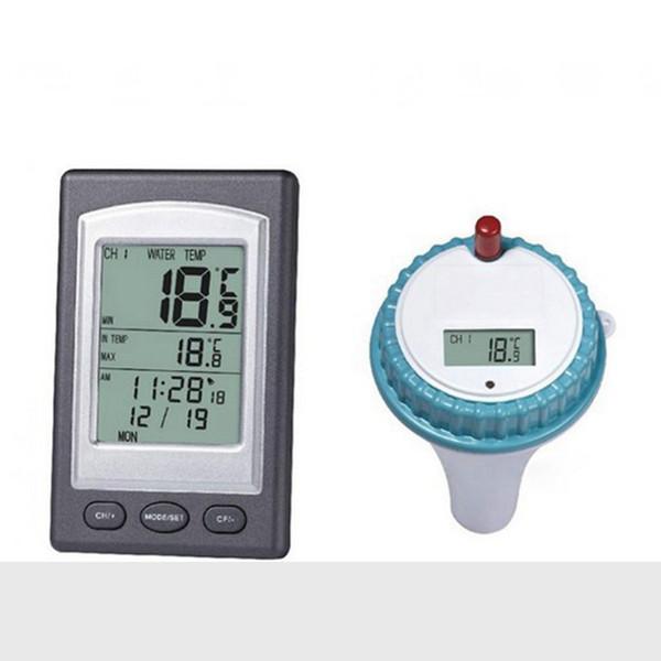 Drahtlose Swim Spa Pool Thermometer Wireless Digital LCD Indoor Outdoor Teich Spa Whirlpool schwimmende Temperatur Meter Sender wasserdicht