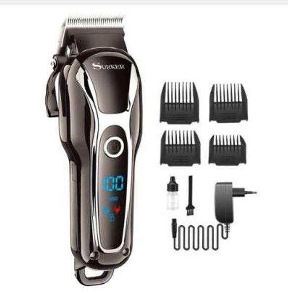 Professionnel LCD tondeuse à cheveux tondeuse électrique pour hommes rechargeable hair cutterr kit de coupe coupe de cheveux machine à deux vitesses