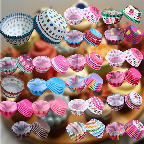 Beatiful 100 pcs/lot Cooking Tools Grease-proof Paper Cup Cake Liners Baking Cup Muffin Kitchen Cupcake Cases Cake Mold