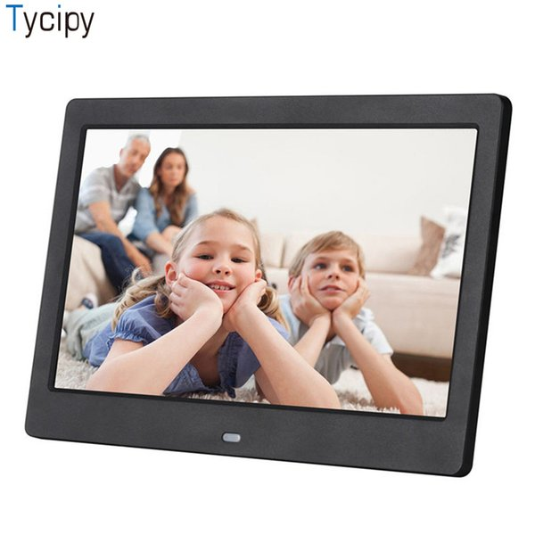 Tycipy 10 Inch Digital Photo Frame 1024*600 HD LED Video Display Playback Electronic Album Picture Music MicroSD U-disk USB