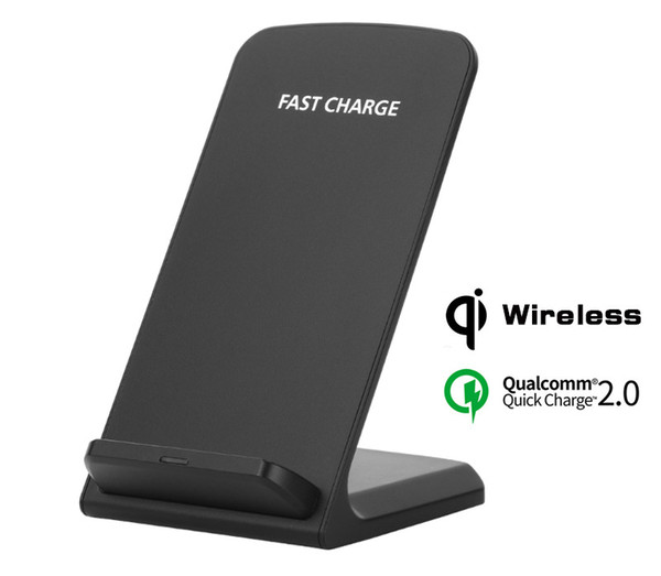 best selling Fast Charger Qi Wireless Charging Stand Pad for Apple iPhone X 8 8Plus Samsung Note 8 S8 S7 with 2 Coils