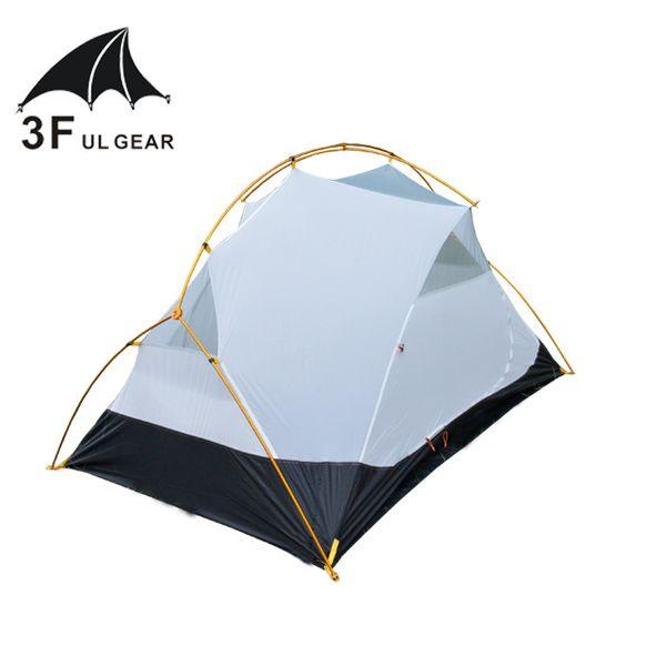 3F Ul Gear 40D silicone Tent Vents Ultralight Camping Tent Canopy 4 Season 2 Person Ultralight Inner Mesh Body 3 Season