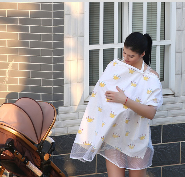 top popular Mother Feeding Maternity Breast Nursing Pads Baby Infant Cotton Outdoor Covers Apron Shawl Anti-Emptied Breastfeeding Cover Scarf Towel 2019