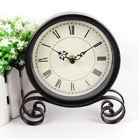 051313 Desk Clocks alarm table director crafts projection desktop digital vintage iron Rural restoring ancient creative