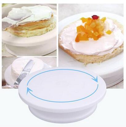 2019 Wholesales Free shipping Cake Decoration Turntable Practical Table Rotating Disc Non-Slip Baking Tool