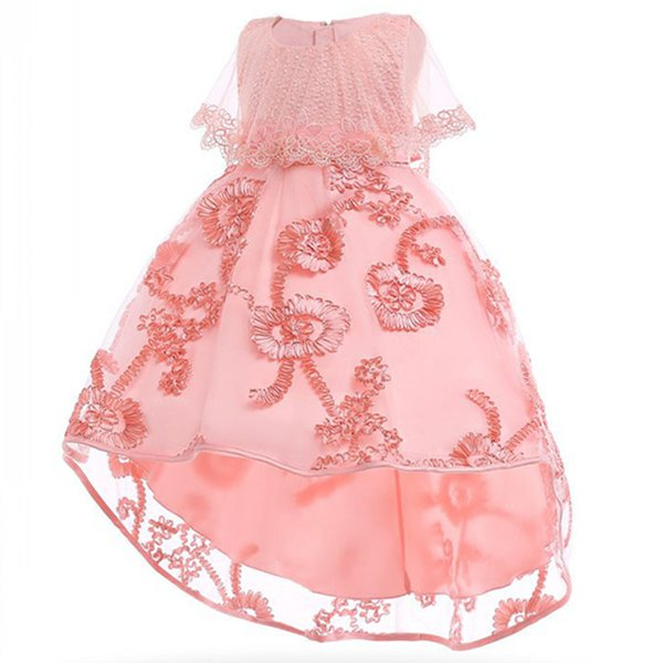 Children's clothing girl princess party dress kids first communion formal prom dress bead baby girl tutu clothes wedding costume