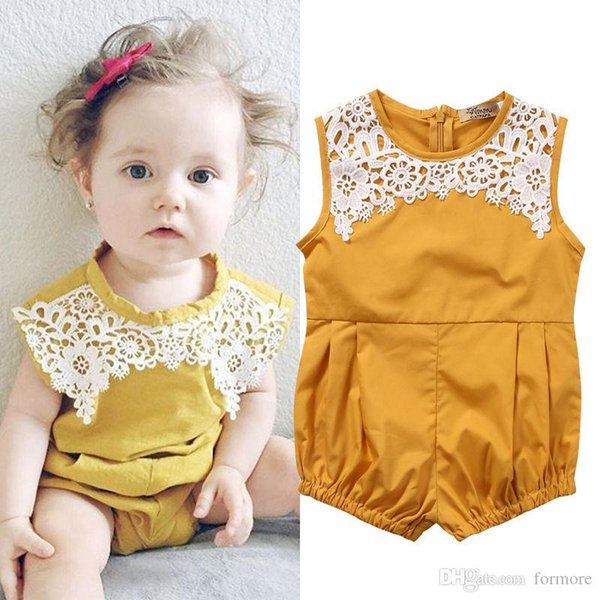 Baby Rompers 2017 New Summer Babies Girl Clothes Newborn Infantial Clothes Product Sleeveless Jumpsuits Roupas Bebe Infant bodysuit for Kids