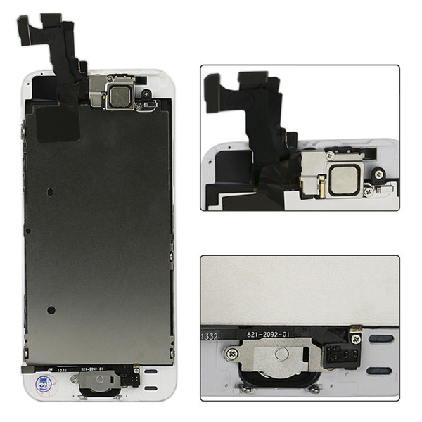 Best A++++ quality for iPhone 5 5C 5S LCD touch Replacement screen digitizer Full set Assembly White black Front Camera + Home Button +Tool